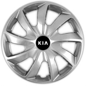 "Radkappen für KIA 14"", QUAD grau 4 Stück"