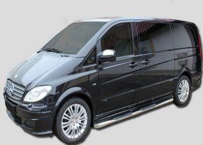 Seitlicher Edelstahlrahmen für Mercedes Vito W639 SWB 2005-2013