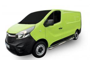 Seitlicher Edelstahlrahmen für Opel Vivaro 2002-2011