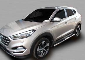 Seitlicher Edelstahlrahmen für Hyundai Tucson 2015-up