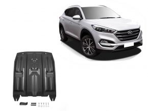 Stahlmotorabdeckung und Getriebeschutz für Hyundai Tucson TL 2WD/4WD 1,6GDI;2WD/4WD 2,0MPI; 2WD/4WD 2,0CRDI; 2WD/4WD 1,6T (177hp) 2015-