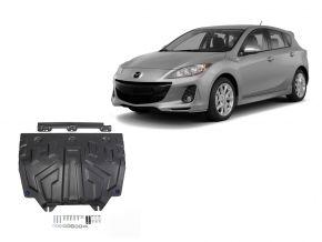 Stahlmotorabdeckung und Getriebeschutz für Mazda 3 1,5; 1,6; 2,0 2013-