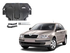 Stahlmotorabdeckung und Getriebeschutz für Skoda  Octavia А5 passt für alle Motoren 2008-2013