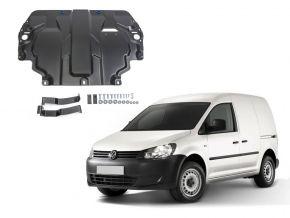 Stahlmotorabdeckung und Getriebeschutz für Volkswagen  Caddy IV passt für alle Motoren (w/o heating system) 2015-