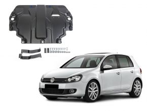 Stahlmotorabdeckung und Getriebeschutz für Volkswagen  Golf VI passt für alle Motoren 2009-2013