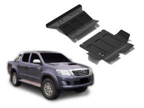 Stahlmotor- und Kühlerabdeckung für Toyota Hilux 2,5TD; 3,0TD; 2,7  2007-2015