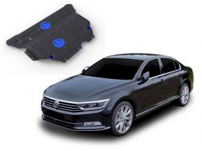 Stahlmotorabdeckung und Getriebeschutz für Volkswagen Passat (B8) FWD 1,4TSI; FWD 1,8TSI 2015-