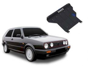 Stahlmotorabdeckung und Getriebeschutz für Volkswagen Golf II MT passt für alle Motoren 1986-1992