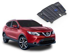 Stahlmotorabdeckung und Getriebeschutz für Nissan Qashqai CVT 2,0; 1,2; 1,6D 2014-2019