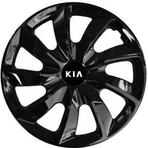 """Radkappen für KIA 14"""", STIG schwarz lackiert 4 Stück"""