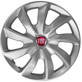"Radkappen für FIAT 15"", STIG grau lackiert 4 Stück"
