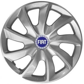 "Radkappen für FIAT BLUE 14"", STIG grau lackiert 4 Stück"