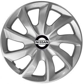 "Radkappen für NISSAN 15"", STIG grau lackiert 4 Stück"