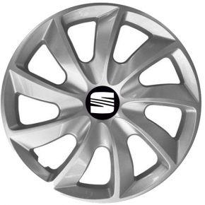 """Radkappen für SEAT 15"""", STIG grau lackiert 4 Stück"""