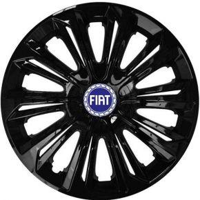 "Radkappen für FIAT BLUE 15"", STRONG schwarz lackiert 4 Stück"