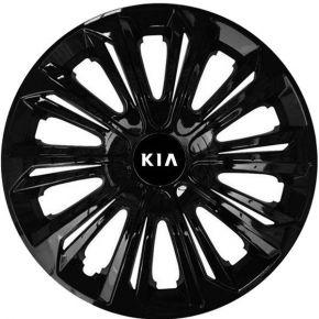 """Radkappen für KIA 15"""", STRONG schwarz lackiert 4 Stück"""