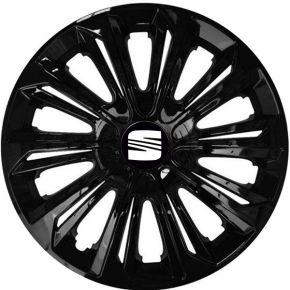 """Radkappen für SEAT 15"""", STRONG schwarz lackiert 4 Stück"""