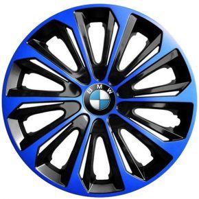 """Radkappen für BMW 15"""", STRONG DUOCOLOR blau-schwarz 4 Stück"""