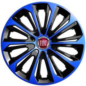 """Radkappen für FIAT 16"""", STRONG DUOCOLOR blau-schwarz 4 Stück"""