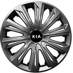 """Radkappen für KIA 15"""", STRONG Graphit lackiert 4 Stück"""