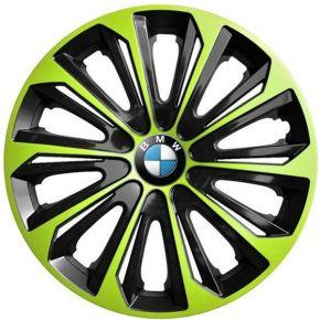 """Radkappen für BMW 15"""", STRONG DUOCOLOR grün-schwarz 4 Stück"""