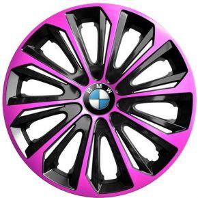 """Radkappen für BMW 15"""", STRONG DUOCOLOR rosa und schwarz 4 Stück"""