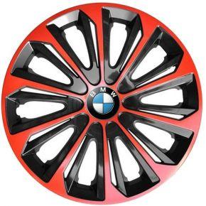 """Radkappen für BMW 15"""", STRONG DUOCOLOR rot-schwarz 4 Stück"""