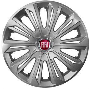 """Radkappen für FIAT 15"""", STRONG grau lackiert 4 Stück"""