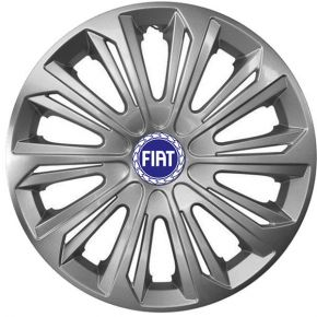 """Radkappen für FIAT BLUE 15"""", STRONG grau lackiert 4 Stück"""