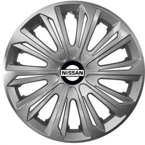 """Radkappen für NISSAN 15"""", STRONG grau lackiert 4 Stück"""