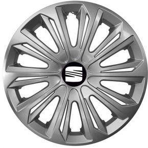 "Radkappen für SEAT 15"", STRONG grau lackiert 4 Stück"