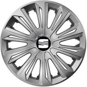 """Radkappen für SEAT 15"""", STRONG grau 4 Stück"""