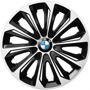 """Radkappen für BMW 15"""", STRONG DUOCOLOR schwarz und weiß 4 Stück"""
