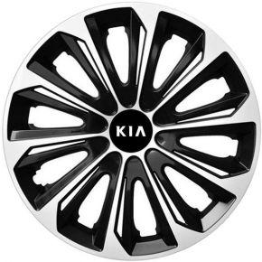 """Radkappen für KIA 15"""", STRONG DUOCOLOR schwarz und weiß 4 Stück"""