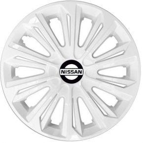 "Radkappen für NISSAN 15"", STRONG weiß lackiert 4 Stück"