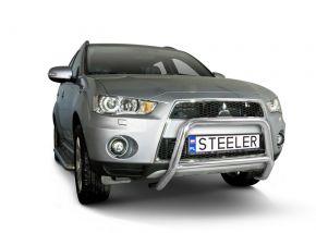 Frontbügel Frontschutzbügel Bullbar Steeler für Mitsubishi Outlander 2010-2012 Modell A