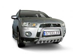 Frontbügel Frontschutzbügel Bullbar Steeler für Mitsubishi Outlander 2010-2012 Modell G