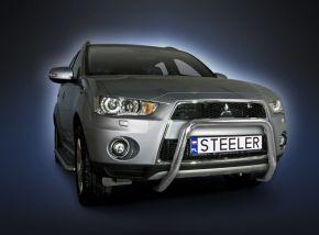 Frontbügel Frontschutzbügel Bullbar Steeler für Mitsubishi Outlander 2010-2012 Modell U