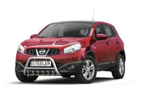 Frontbügel Frontschutzbügel Bullbar Steeler für Nissan Qashqai 2010-2013 Modell G