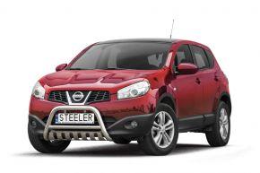 Frontbügel Frontschutzbügel Bullbar Steeler für Nissan Qashqai 2010-2013 Modell S