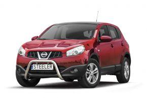 Frontbügel Frontschutzbügel Bullbar Steeler für Nissan Qashqai 2010-2013 Modell U