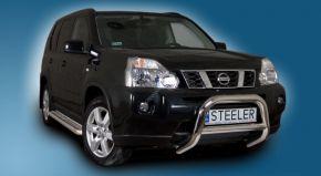 Frontbügel Frontschutzbügel Bullbar Steeler für Nissan X-Trail 2007-2010 Modell A