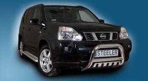 Frontbügel Frontschutzbügel Bullbar Steeler für Nissan X-Trail 2007-2010 Modell S