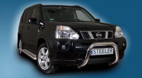 Frontbügel Frontschutzbügel Bullbar Steeler für Nissan X-Trail 2007-2010 Modell U
