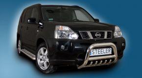 Frontbügel Frontschutzbügel Bullbar Steeler für Nissan X-Trail 2007-2010 Modell G